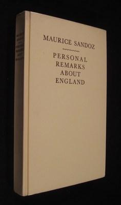 Personal Remarks About England: Sandoz, Maurice
