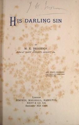 His Darling Sin: Braddon, Mary Elizabeth