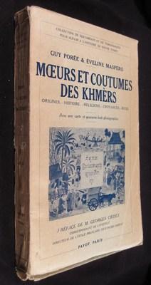 Moeurs et coutumes des Khmers: Porée Guy; Maspero