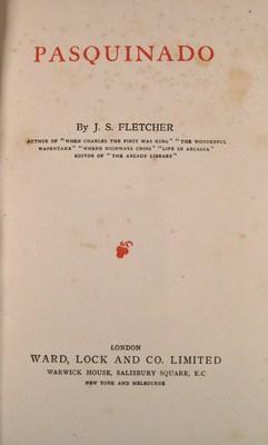 Pasquinado: FLETCHER, J. S.