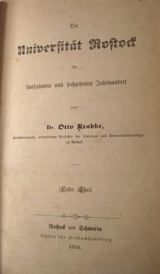 Die Universität Rostock im funfzehnten und sechzehnten Jahrhundert: Krabbe, Otto