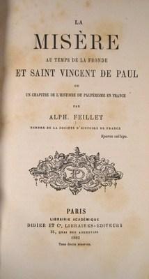 La misère au temps de la Fronde et Saint Vincent de Paul ou un chapitre de l'histoire ...