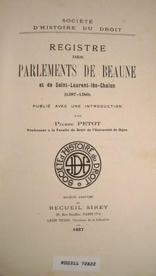 Registre des parlements de Beaune et de Saint-Laurent-les-Chalon (1357-1380): Petot, Pierre