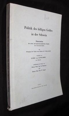 Die Politik des billigen Geldes unter besonderer Berücksichtigung der Schweiz: von Castelberg, ...