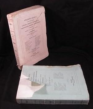 Anecdota Graeca e Mss. Bibliothecis Vaticana, Angelica, Barberiniana, Vallicelliana, Medicea, ...
