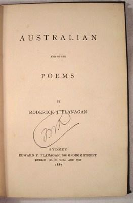 Australian and Other Poems: Flanagan, Roderick J.