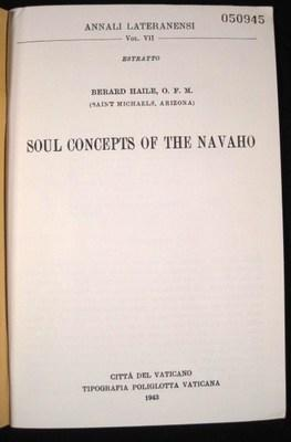 Soul Concepts of the Navaho: Haile, Berard