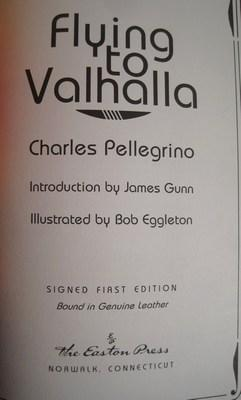 Flying to Valhalla (signed leather bound first edition): Pellegrino, Charles