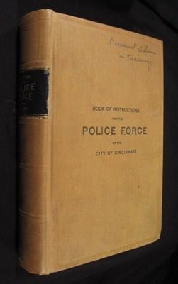 Book of Instructions for the Police Force of the City of Cincinnati