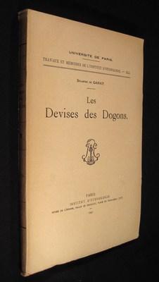 Les Devises des Dogons. (Travaux et memoires: Ganay, Solange de