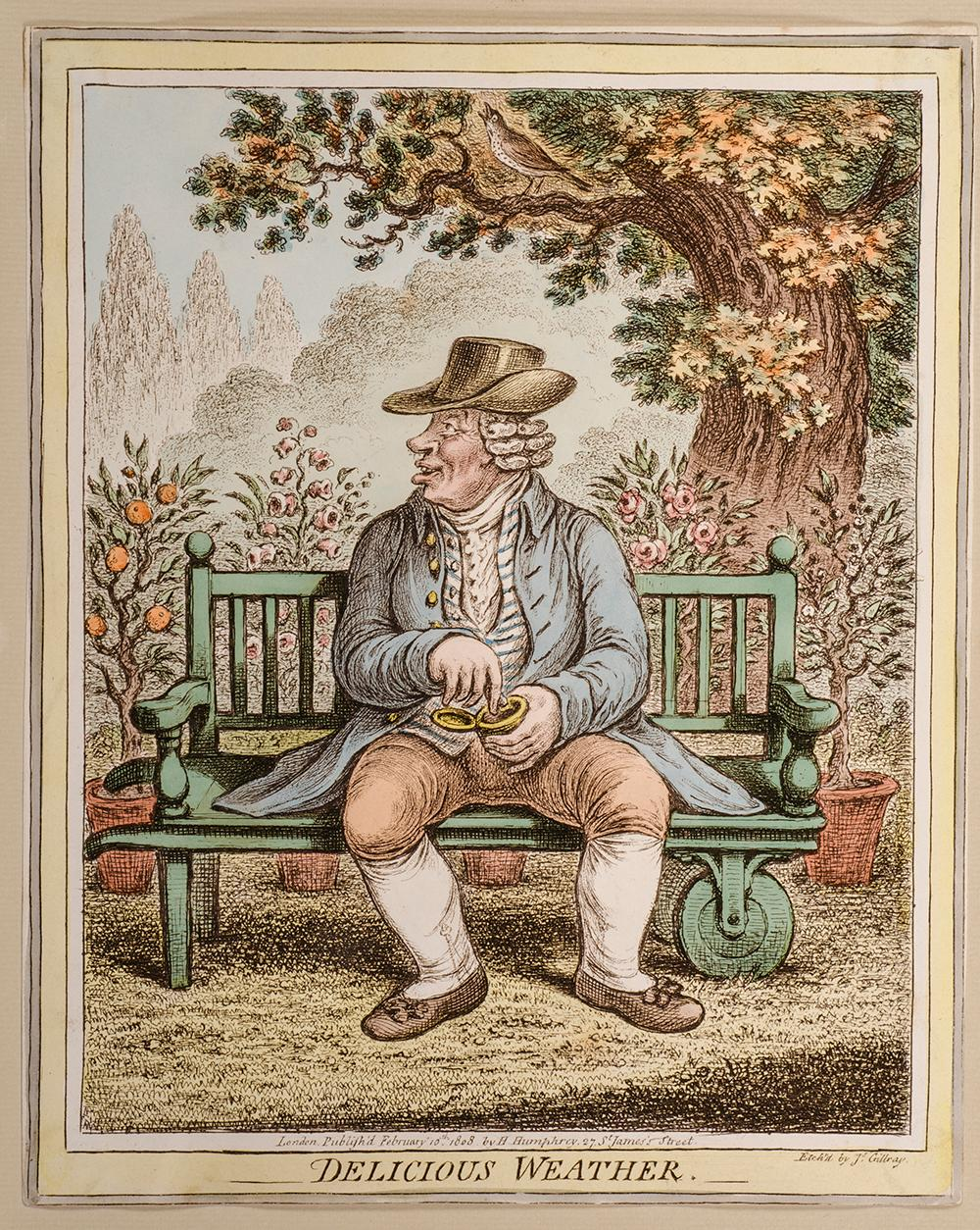 [Delicious Weather, & c.]. [Six Caricatures Relating to Weather]: GILLRAY, James