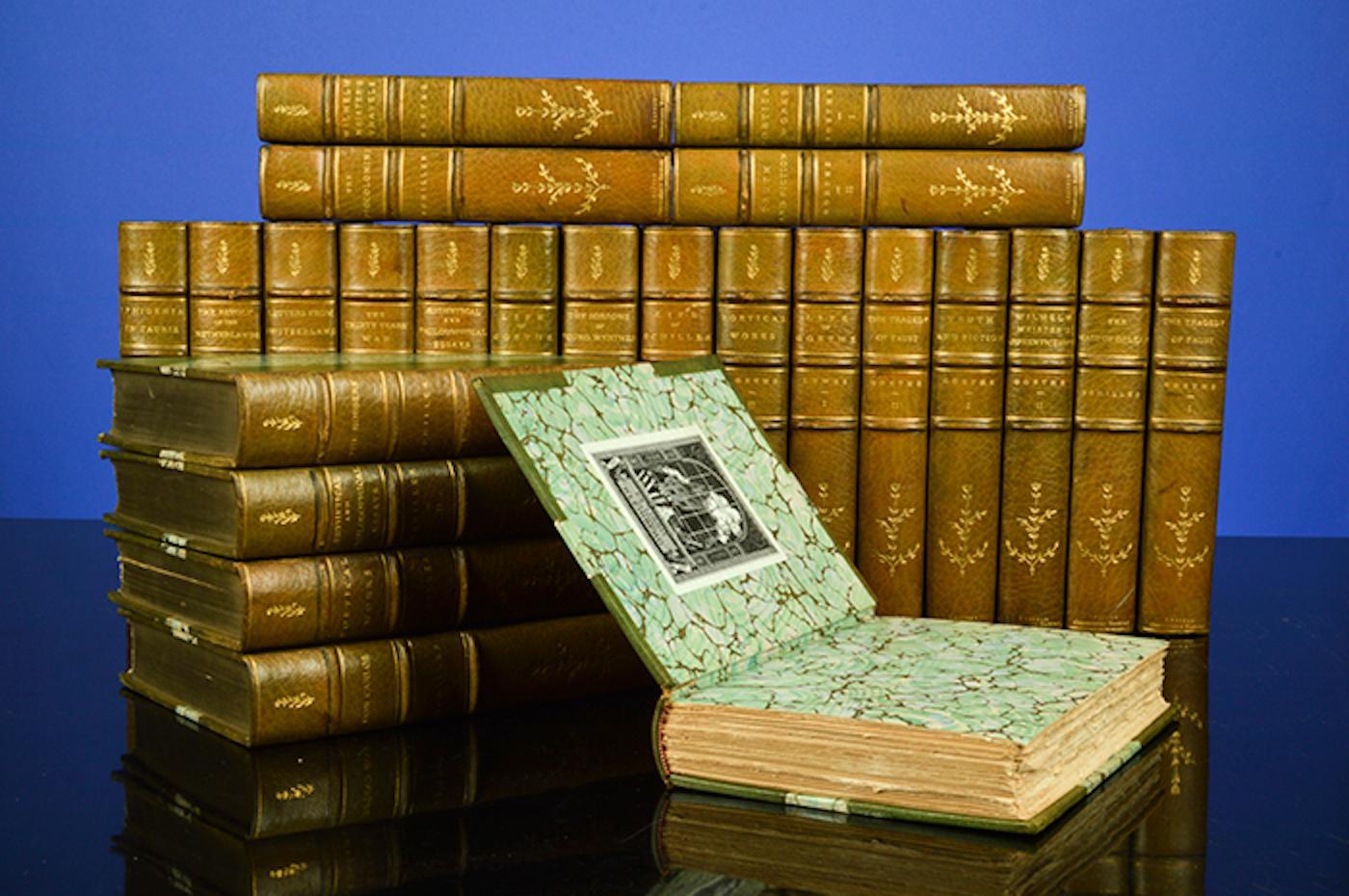 Works of J.W. von Goethe [tand] The Works of Friedrich Schiller, The: GOETHE, Johann Wolfgang von; ...
