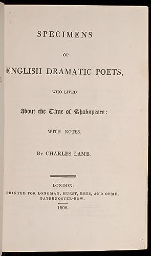 Specimens of English Dramatic Poets: ROOT & SON; LAMB, Charles