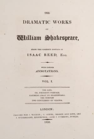 Dramatic Works of William Shakespeare, The: SHAKESPEARE, William; SHAKESPEARE, William