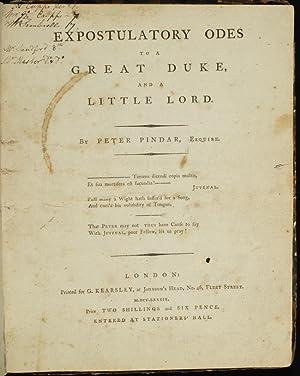 Expostulatory Odes to a Great Duke, and: WOLCOT, John; Pindar,