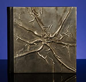 A Superlative Blank Album Binding in Creased and Chased Pewter and Morocco Leather: LALLIER, ...
