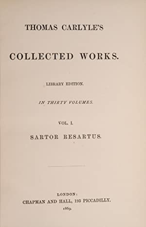 Thomas Carlyle's Collected Works: CARLYLE, Thomas