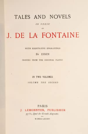 Tales and Novels in Verse of J. De La Fontaine: LA FONTAINE, [Jean de]; Bayntun of Bath