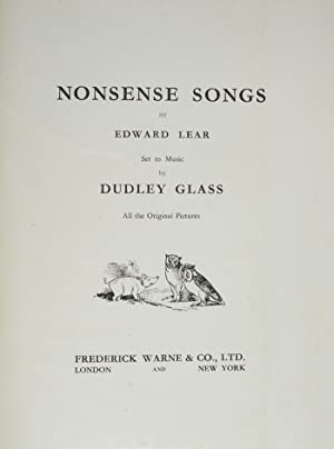 Nonsense Songs: LEAR, Edward; GLASS, Dudley