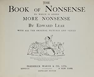Book of Nonsense to Which is Added More Nonsense, The: LEAR, Edward