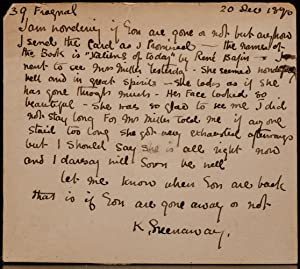 Autograph Note Signed]: GREENAWAY, Kate