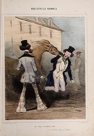 Nos Gentils Hommes a Gout: CHAM (pseudonym of Amédée de Noé)