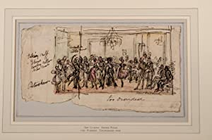 A collection of eight original pen, pencil and watercolor drawings for Pierce Egan's Finish to...
