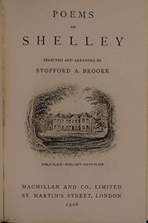 Poems of Shelley: RAMAGE, John; SHELLEY, Percy Bysshe