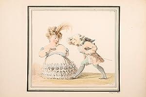 Caricatures de J.J.: ISABEY, Jean-Baptiste