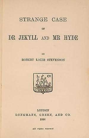 Strange Case of Dr Jekyll and Mr: STEVENSON, Robert Louis;