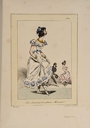 1823 Delicious And Bookseller~doctor Syntax Hand Colored Engraving Ackermann