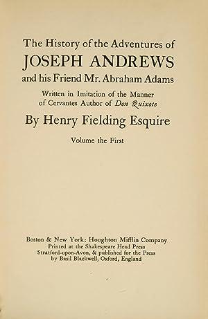 Novels of Henry Fielding, The: FIELDING, Henry; SHAKESPEARE HEAD PRESS