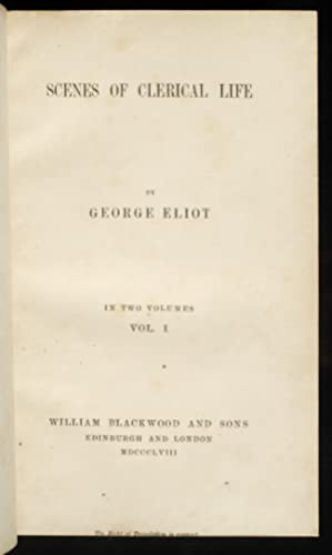 Scenes of Clerical Life: ELIOT, George