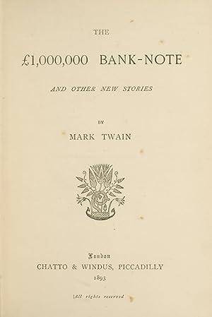 1,000,000 Bank Note, The: TWAIN, Mark; CLEMENS, Samuel Langhorne
