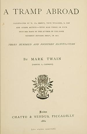 Tramp Abroad, A.: TWAIN, Mark; CLEMENS, Samuel Langhorne