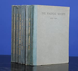 Walpole Society. Annual Volumes 1 - 26, The: WALPOLE SOCIETY, The