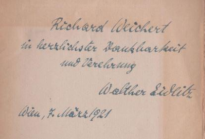 Die Herbstvögel. Schauspiel.: Eidlitz, Walther.