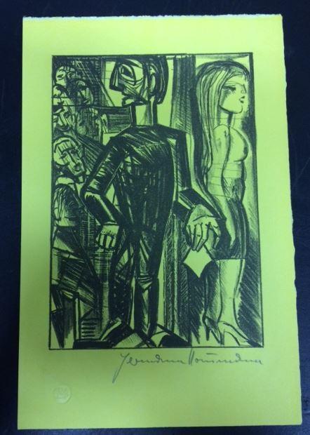 Einladung zum Lever Bourgeois. Mit vier Original-Steinlithographien: Hein, Christoph.