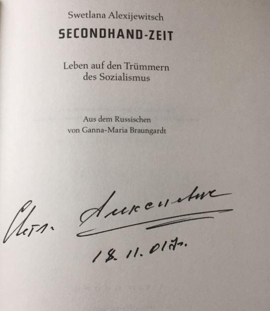 Secondhand-Zeit. Leben auf den Trümmern des Sozialismus.: Alexijewitsch, Swetlana.