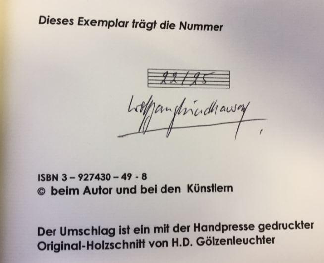 Hinter den Bildern. Gedichte. - Windhausen, Wolfgang.