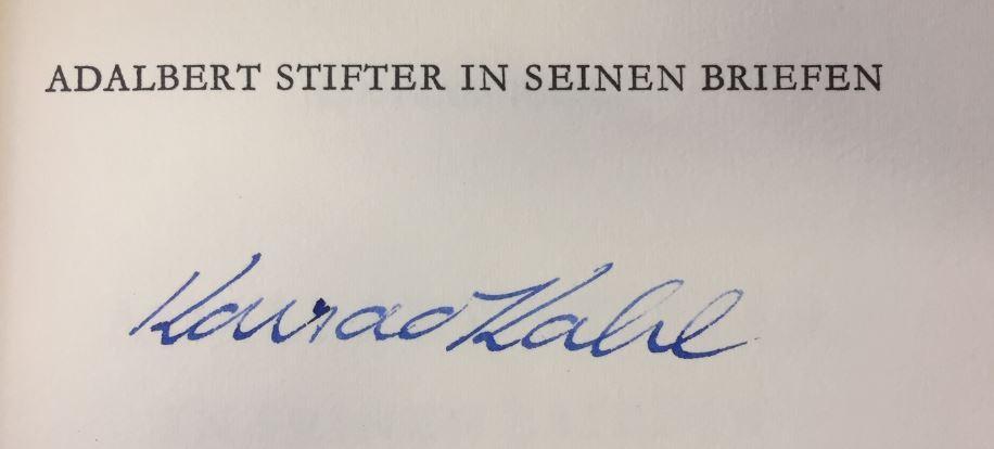 Adalbert_Stifter_in_seinen_Briefen_zum_28_Januar_1968_Kahl_Konrad_Très_bon_Couverture_rigide