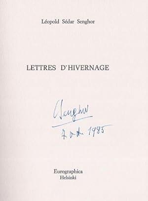 Lettres d`Hivernage. Poetes Contemporains en Editions Limitées: Senghor, Léopold Sédar.