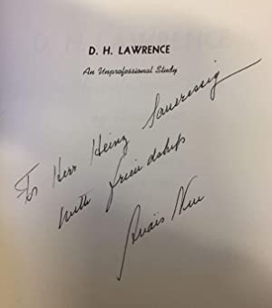 D. H. Lawrence. An unprofessional study by Anais Nin with an introduction by Harry T. Moore.