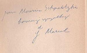 L'Homme Problématique.: Marcel, Gabriel.