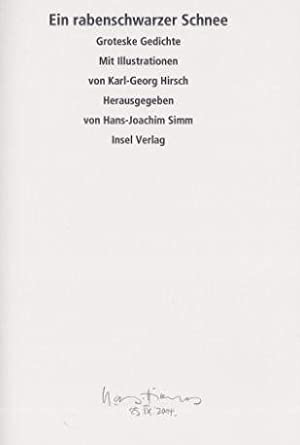Ein rabenschwarzer Schnee. Groteske Gedichte. Insel-Bücherei IB: Simm, Hans-Joachim (Hrsg.)