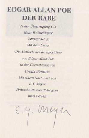 Edgar Allan Poe Signed Seller Supplied Images Abebooks
