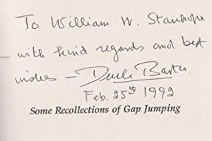 Some Recollections of Gap Jumping. Profiles, Pathways, and Dreams.