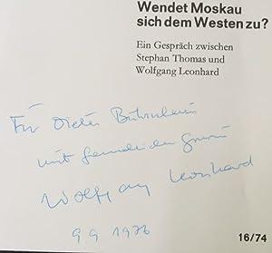Wendet Moskau sich dem Westen zu ?: Leonhard, Wolfgang und