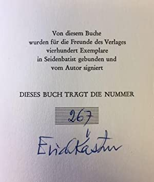 Ein Mann gibt Auskunft.: Kästner, Erich.