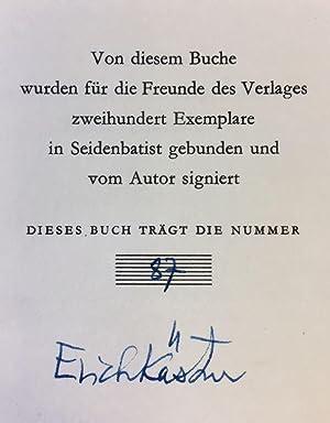 Die verschwundene Miniatur oder auch Die Abenteuer: Kästner, Erich.